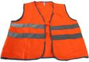 Жилет сигнальный с карманами (тк.Сигнал, 2 гориз. СОП, липучки, оранжевый)