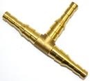Цельнометалл. нераз. штуцер-тройник универсальный под шланг д. 6/9мм (БЕЗ БЛИСТЕРА) арт.7707 (46/уп)
