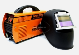 Инвертор INTEC-205S + Маска сварщика WH-F4 черный со светоф. WH 101 (откидывающийся)