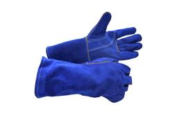 """Краги спилковые синие усил. пал. RX4019, 14"""", АВ"""